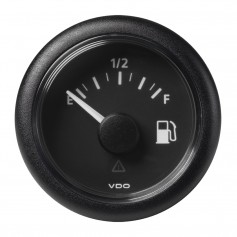 VDO Marine 2-1-16- -52MM- Viewline Fuel Level Gauge Empty-Full - 8-32V - 240-33-5 OHM - Black Dial Round Bezel