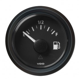 VDO Marine 2-1-16- -52MM- Viewline Fuel Level Gauge Empty-Full - 8-32V - 240 - 33-5 OHM - Black Dial Triangular Bezel