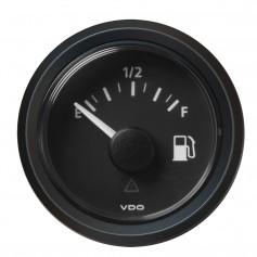 VDO Marine 2-1-16- -52MM- Viewline Fuel Level Gauge Empty-Full - 8-32V - 240 - 33-5 OHM - Black Dial Triangular Bezel
