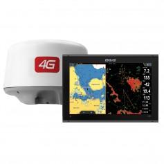 BG Vulcan 12 Chartplotter-Fishfinder Display w-4G Radar Bundle