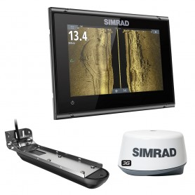 Simrad GO7 XSR w-Active Imaging 3-in-1 Transom Mount Transducer- 3G Radar US-Canada Nav- Chart