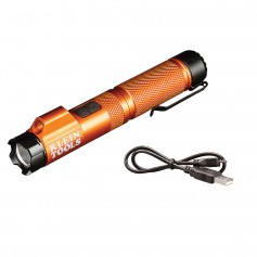 Klein Tools Rechargeable Focus Flashlight w-Laser - 350 Lumens
