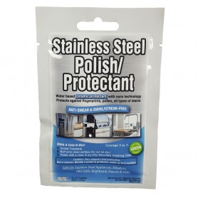 Flitz Stainless Steel Polish 8- x 8- Towelette Packet