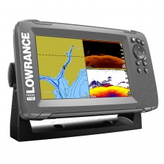 Lowrance HOOK-7 7- Chartplotter-Fishfinder SplitShot Transom Mount Transducer w-Built-In US Inland Charts