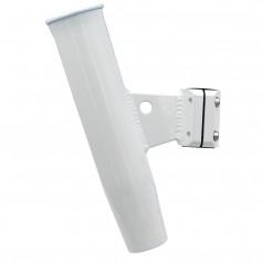 C-E- Smith Aluminum Vertical Clamp-On Rod Holder 1-5-16- OD White Powdercoat w-Sleeve