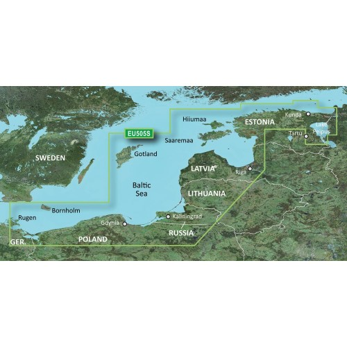 Garmin BlueChart g2 HD - HXEU065R - Baltic Sea East Coast - microSD-SD