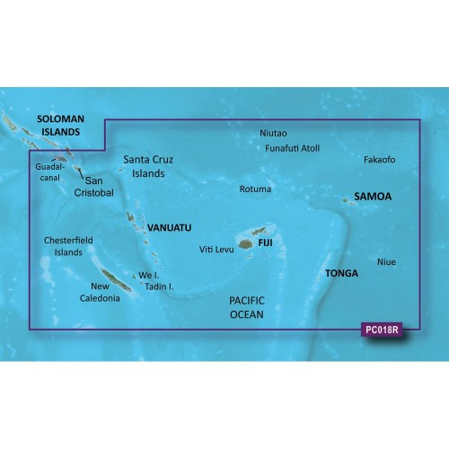Garmin BlueChart g2 HD - HXPC018R - New Caledonia To Fiji - microSD-SD