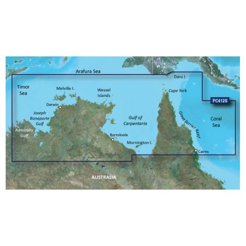Garmin BlueChart g2 HD - HXPC412S - Admiralty Gulf Wa To Cairns - microSD-SD
