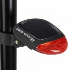 Adjustable Bike Tail Light Solar Powered 2 LED 3 Modes LED Bicycle Rear Light Cycling Safety Warning Light Bicycle flash lamp