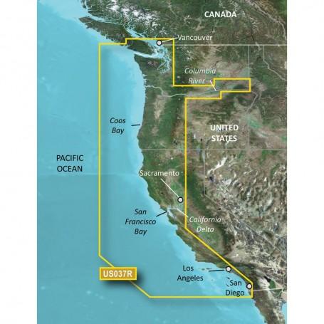 Garmin BlueChart g3 Vision HD - VUS037R - Vancouver - San Diego - microSD-SD