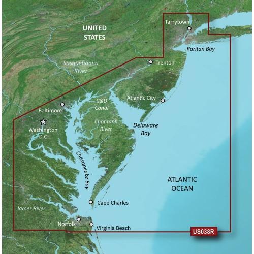 Garmin BlueChart g3 Vision HD - VUS038R - New York - Chesapeake - microSD-SD