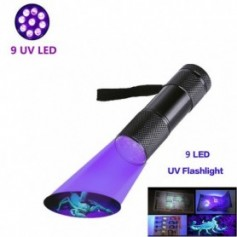UV Flashlight Black Light, 9 12 21 51 LED 395 nM Ultraviolet Torch Blacklight Detector for Dog Urine, Pet Stains and Bed Bug z50