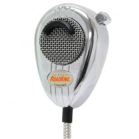 RoadKing 4-Pin Dynamic Noise Canceling CB Microphone, Chrome & Chrome Cord