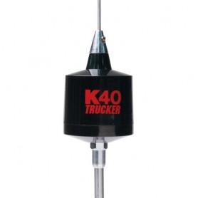 """K40 49"""" Trucker Center Load 3500 Watt CB Antenna, Black with Red K40 Logo"""