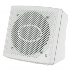 Poly-Planar 5-25- Premium Enclosed Flush 2-Way Marine Speaker - -Pair- White