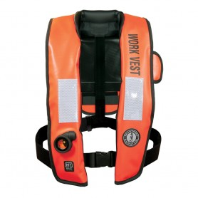 Mustang Inflatable Work Vest w-HIT Orange