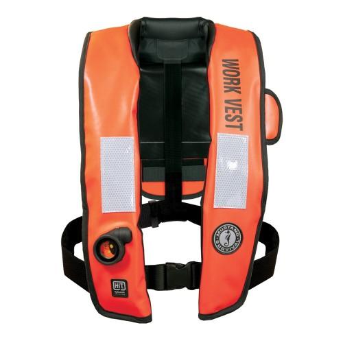 Mustang Inflatable Work Vest w-HIT Orange