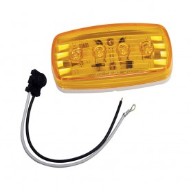 Wesbar LED Clearance-Side Marker Light - Amber -58 w-Pigtail