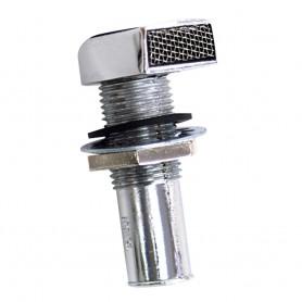 Whitecap Fuel Vent - Rectangular Head- Straight- 9-16- Hose