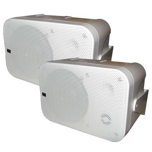 Poly-Planar Box Speakers - -Pair- White