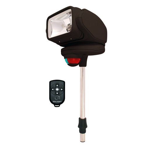 Golight Gobee Stanchion Mount w-Wireless Remote - Black
