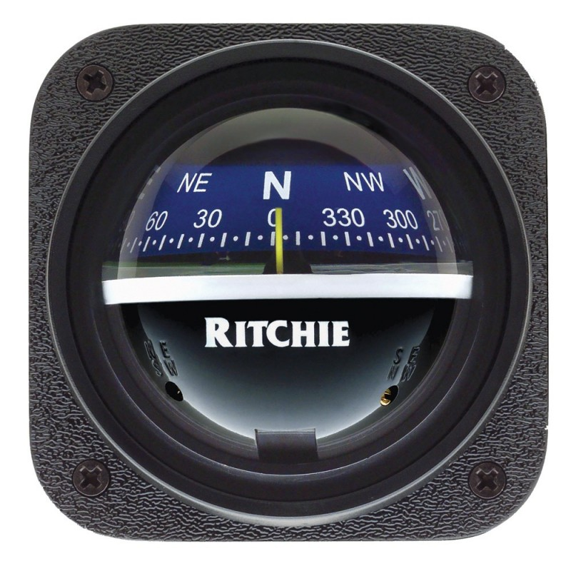 Ritchie V-537B Explorer Compass - Bulkhead Mount - Blue Dial