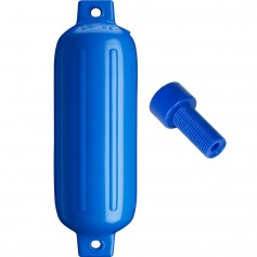 Polyform G-4 Twin Eye Fender 6-5- x 22- - Blue w-Air Adapter