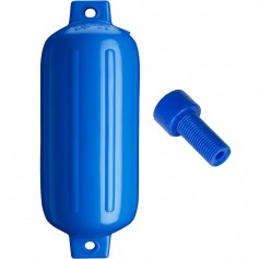 Polyform G-5 Twin Eye Fender 8-8- x 26-8- - Blue w-Air Adapter