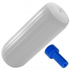 Polyform HTM-1 Hole Through Middle Fender 6-3- x 15-5- - White w-Air Adapter