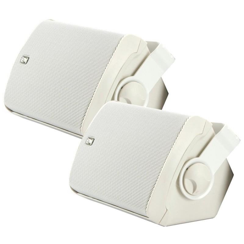 Poly-Planar MA7500W Compact Box Speaker - -Pair- White