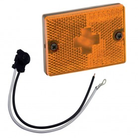 Wesbar Sidemarker Clearance Light w-18- Pigtail - Amber