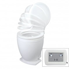 Jabsco Lite Flush Electric 12V Toilet w-Control Panel