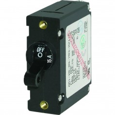 Blue Sea 7208 AC-DC Single Pole Magnetic World Circuit Breaker - 15AMP