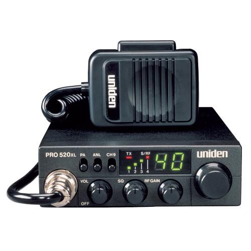 Uniden PRO520XL CB Radio w-7W Audio Output