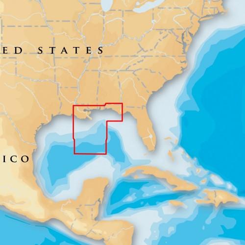 Navionics Platinum- - Gulf of Mexico Central - microSD-SD