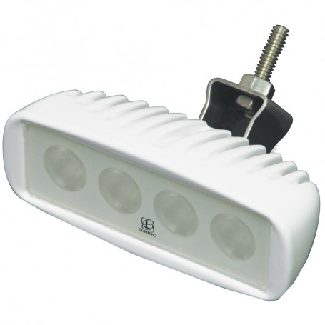 Lumitec Caprera LED Cockpit Flood Light - Bracket Mount - White