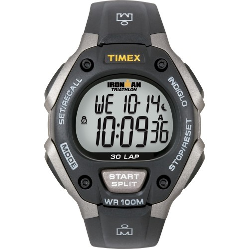 Timex Ironman Triathlon 30 Lap - Black-Silver