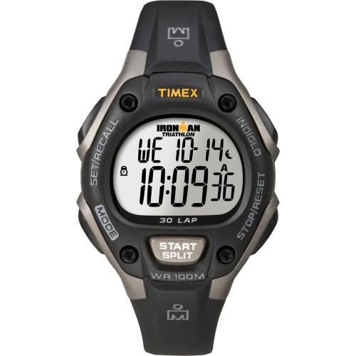 Timex Ironman Triathlon 30 Lap Mid Size - Black-Silver
