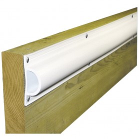 Dock Edge Standard -D- PVC Profile 16ft Roll - White
