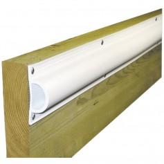Dock Edge Standard -D- PVC Profile 16ft Roll - White