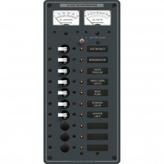 Blue Sea 8082 DC 10 Position Toggle Branch Circuit Breaker Panel