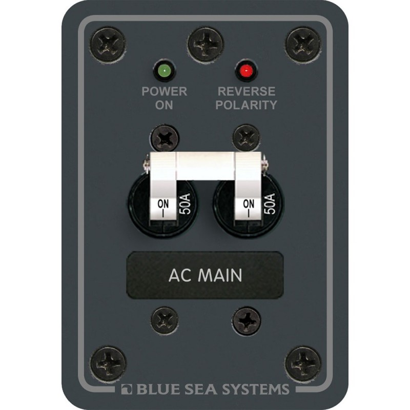 Blue Sea 8079 AC Main Only Circuit Breaker Panel - White Switches