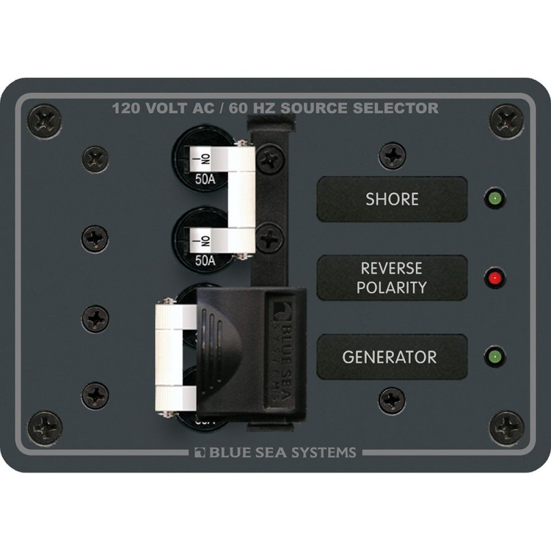 Blue Sea 8061 AC Toggle Source Selector 120v AC 50A
