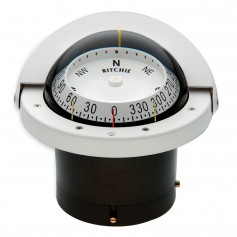 Ritchie FNW-203 Navigator Compass - Flush Mount - White