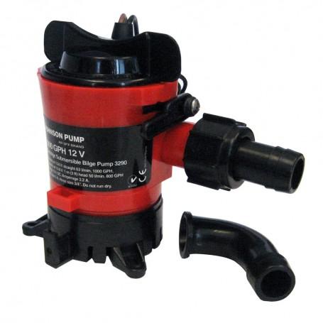 Johnson Pump 1000 GPH Bilge Pump 3-4- 12V Dura Ports