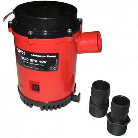 Johnson Pump 2200 GPH Bilge Pump 1-1-8- Hose 12V Threaded Port