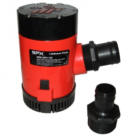Johnson Pump 4000 GPH Bilge Pump 1-1-2- Discharge Port 12V