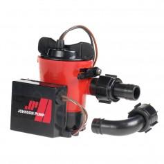Johnson Pump 500 GPH Auto Bilge Pump 3-4- Hose 12V Dura Port