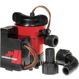 Johnson Pump 750GPH Auto Bilge Pump 3-4- Hose Mag Switch 12V