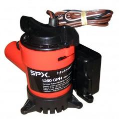 Johnson Pump 1250 GPH Ultima Combo Pump 1-1-8- Hose 12V